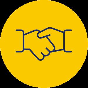 Introducer Handshake Icon